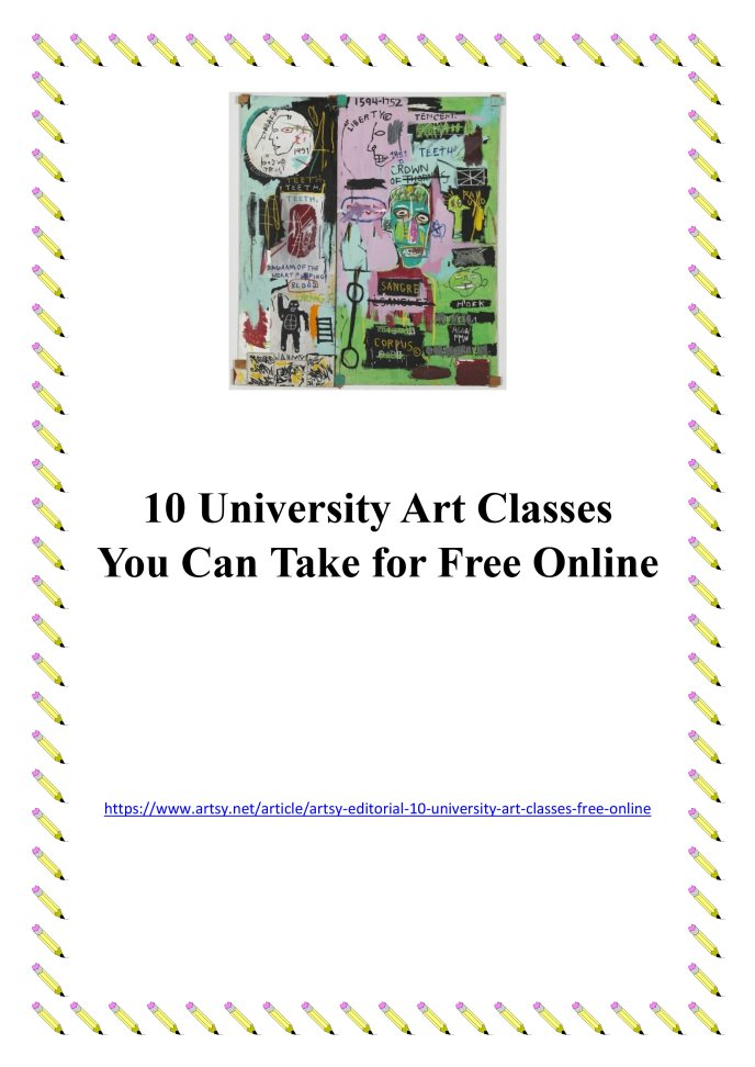 10 free University Art Courses you can take online — Yarram ...
