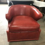 Dyna St Clair Red Leather Swivel Chair Homenclature