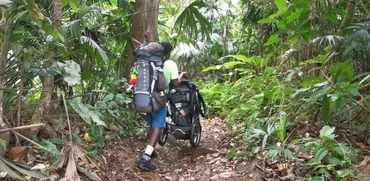 Cruzando el Tapón del Darién, entre Colombia y Panamá.