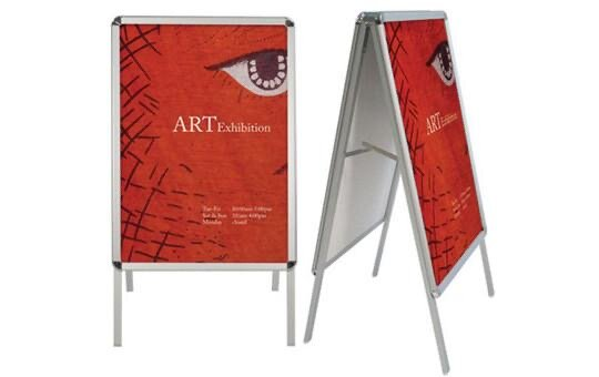 a frame metal poster stand brilliant banners