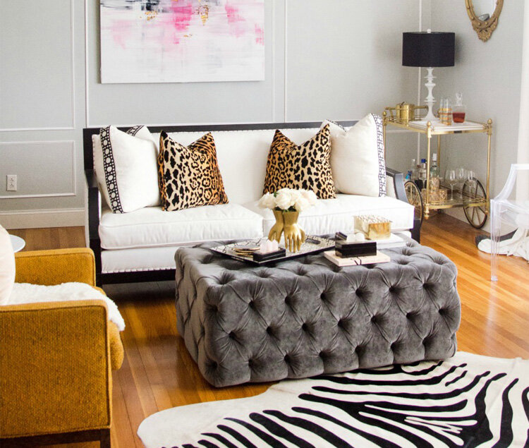 large tray for ottoman styling ideas