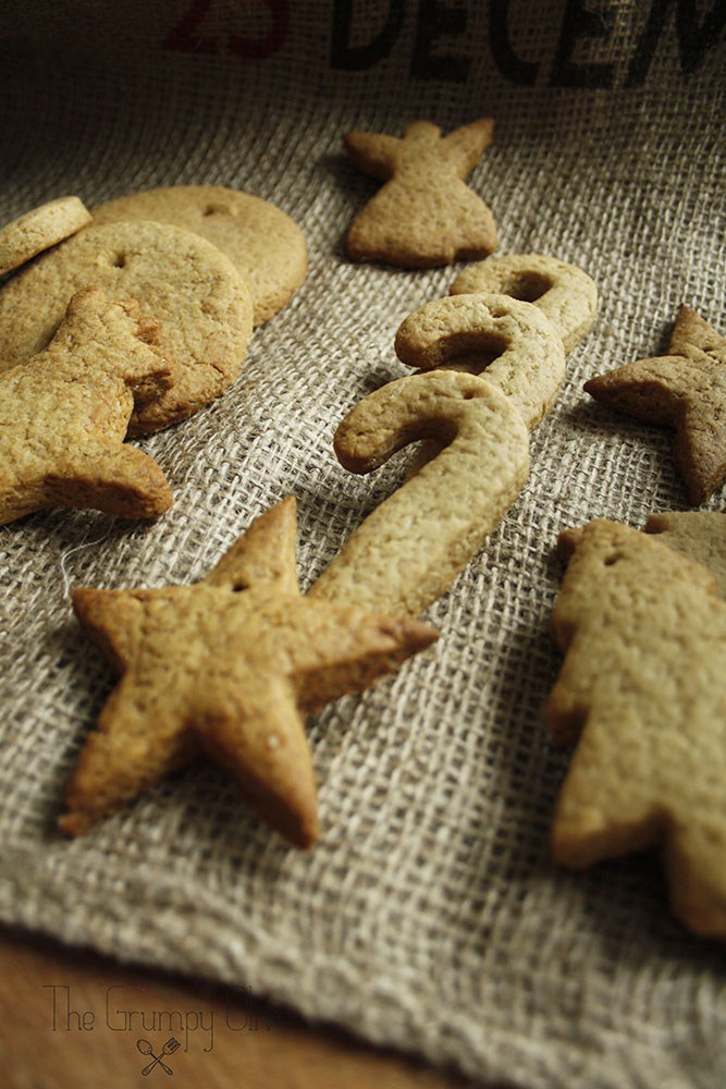 Close up Christmas Gingerbread Cookies