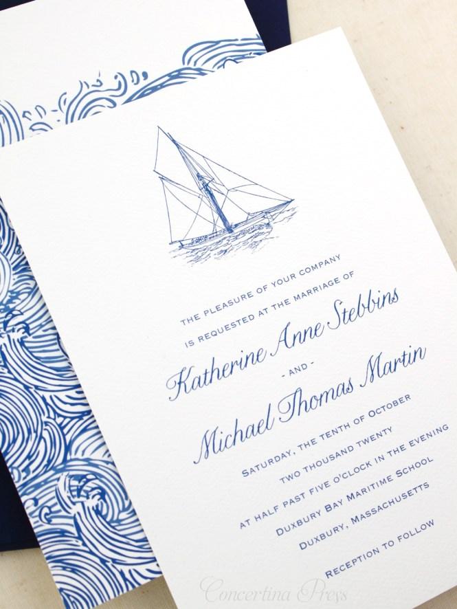 Sailboat Wedding Invitations