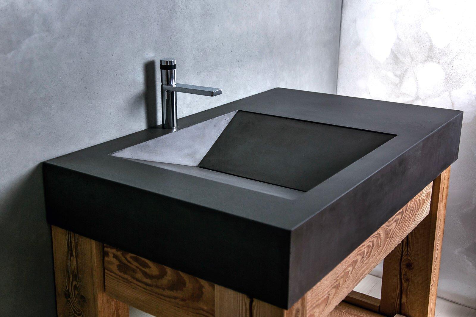 concrete sinks woven 3 design