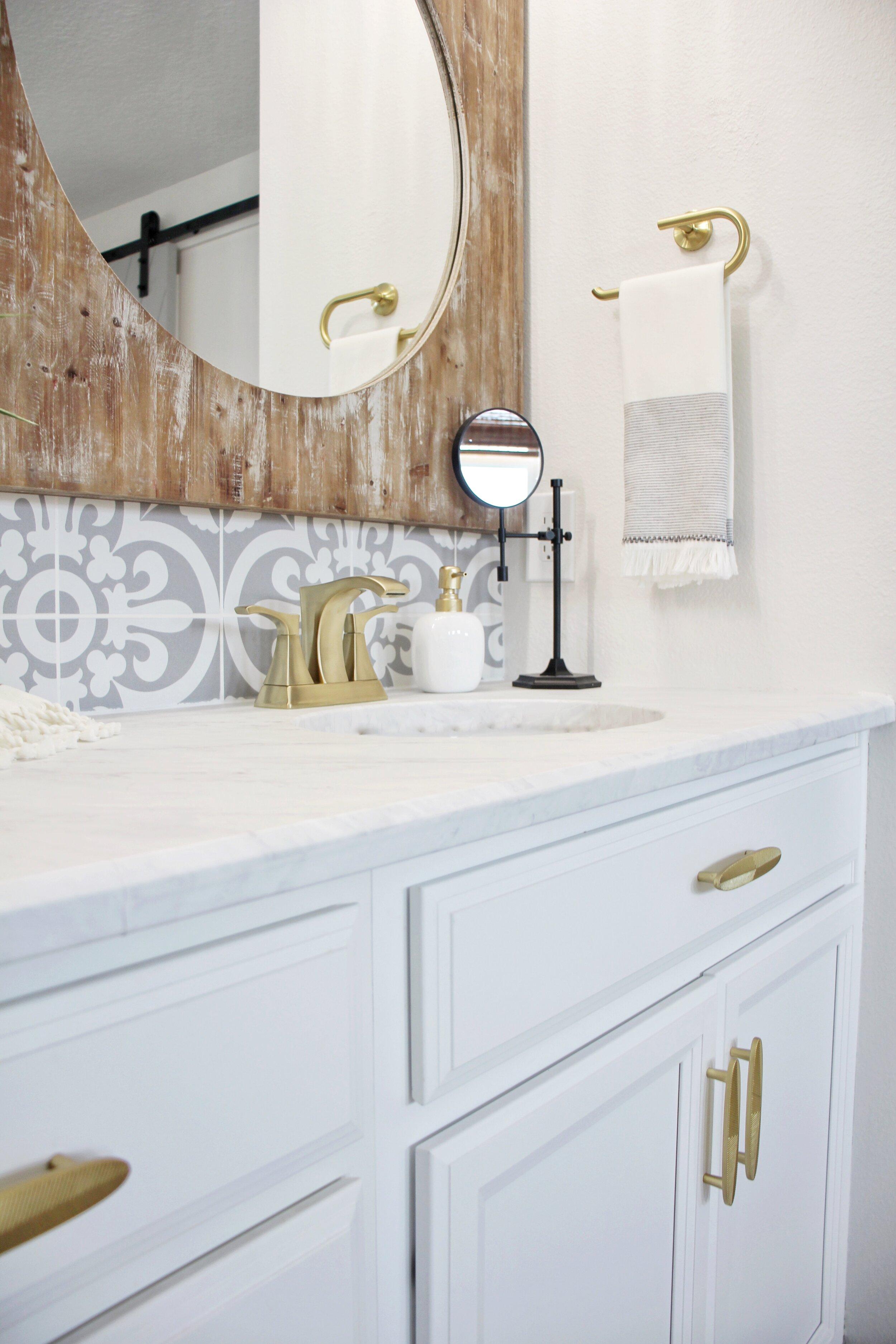 master bathroom pfister faucets newbuild newlyweds