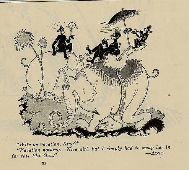 Here we have incredibly vulgar racism and the objectification of women. Dr. Seuss, Public domain, via Wikimedia Commons. I thought about using this as a cover thumbnail, but it is just too crude.