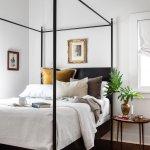 Josephine Black Metal Four Poster Canopy Bed Doorman