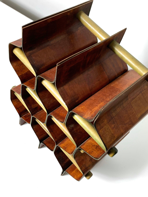 mid century wine rack by torsten johansson vessel shape in teak 1960s the space detroit the s pace detroit