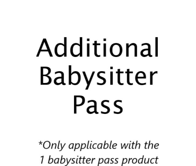 Additional Babysitter Pass Kilkenny Pool