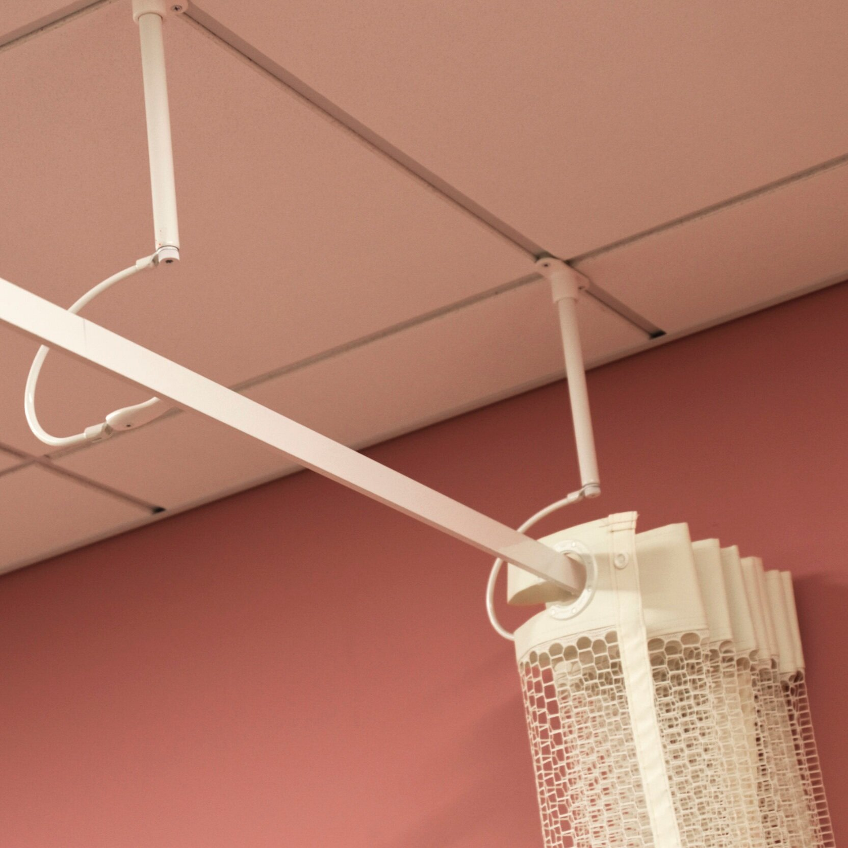 cubicle curtain track system on the