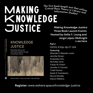 Knowledge Justice — We Here
