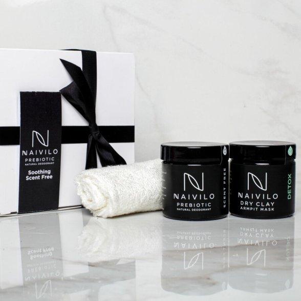 Scent Free Prebiotic Natural Deodorant Gift Set — Naivilo