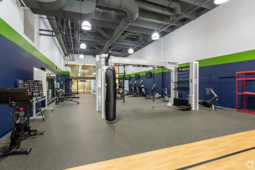Fitness center in the AECOM building.