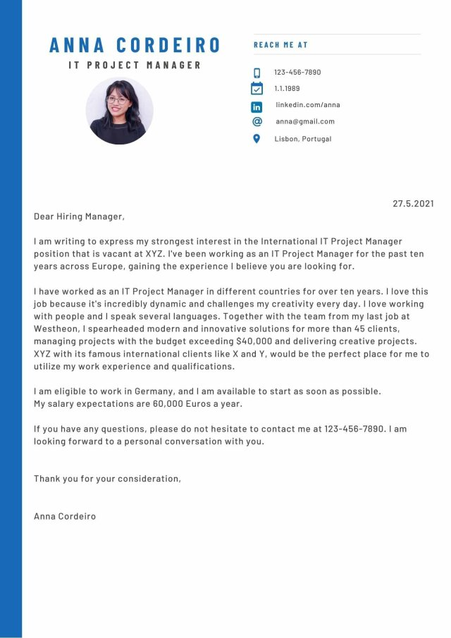 How to write a good cover letter — meetra Germany