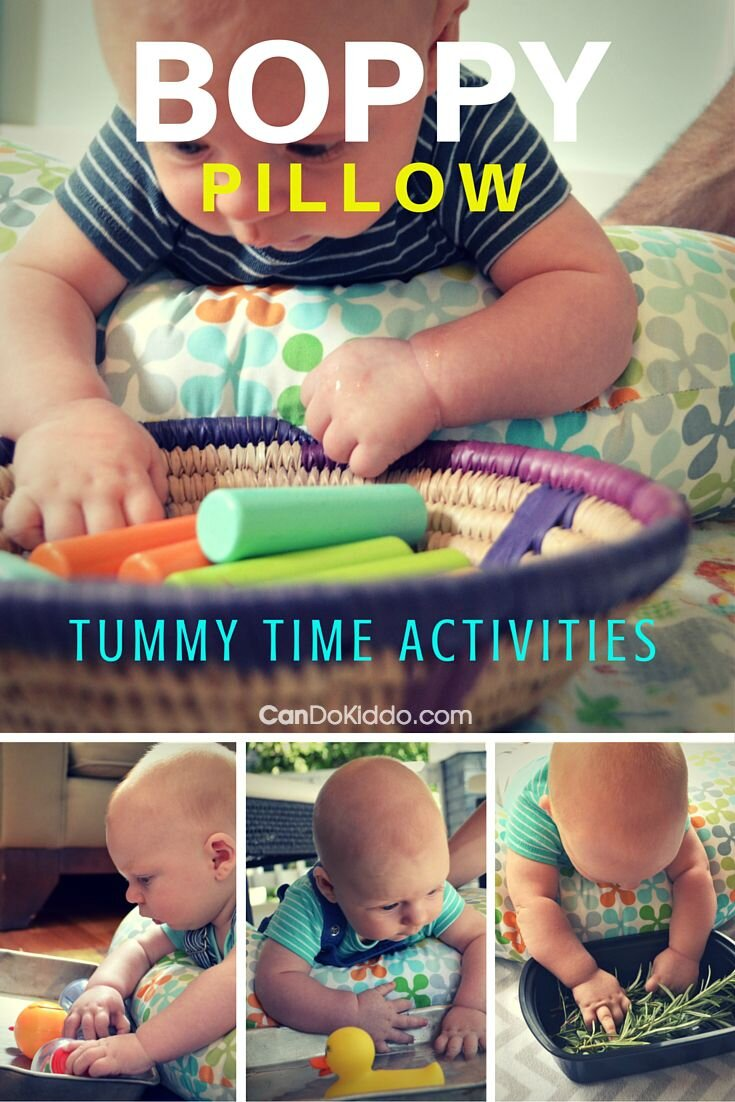 boppy pillow tummy time activities for