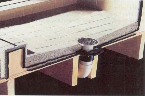 using big tiles on your shower pan