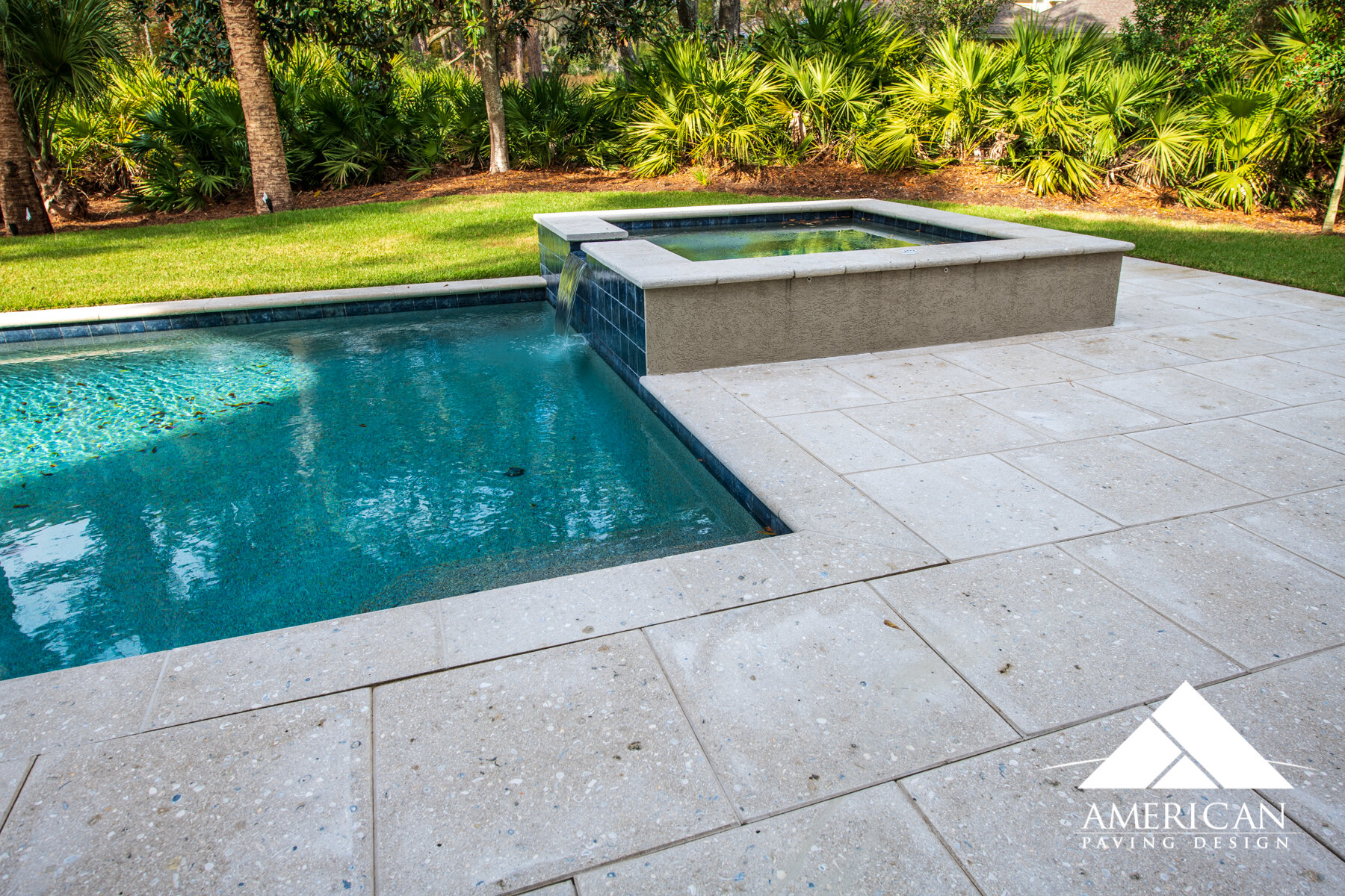 tabby shellstone paver patio and pool deck designs american paving design