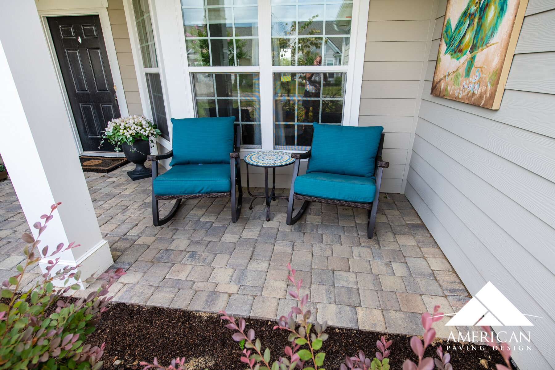 overlay your existing concrete patio and transform your backyard american paving design