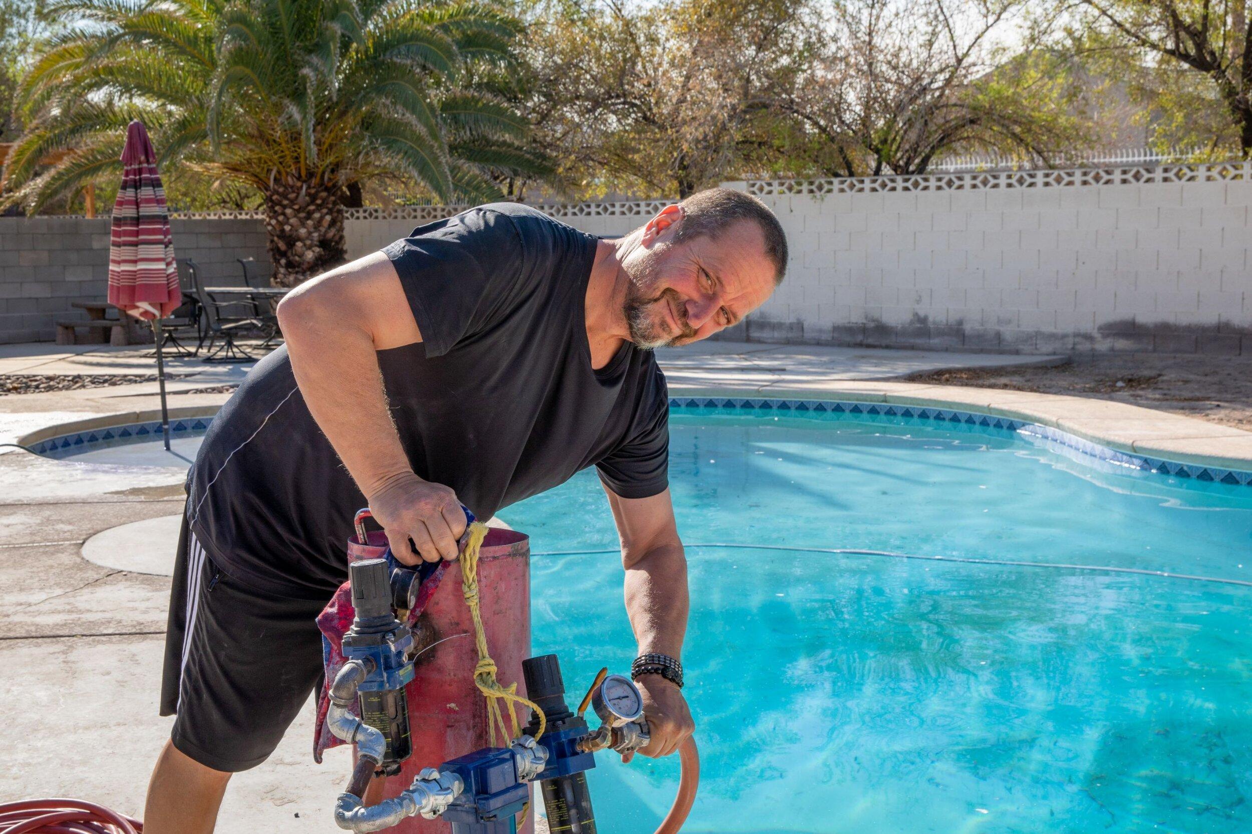 pool calcium removal las vegas and