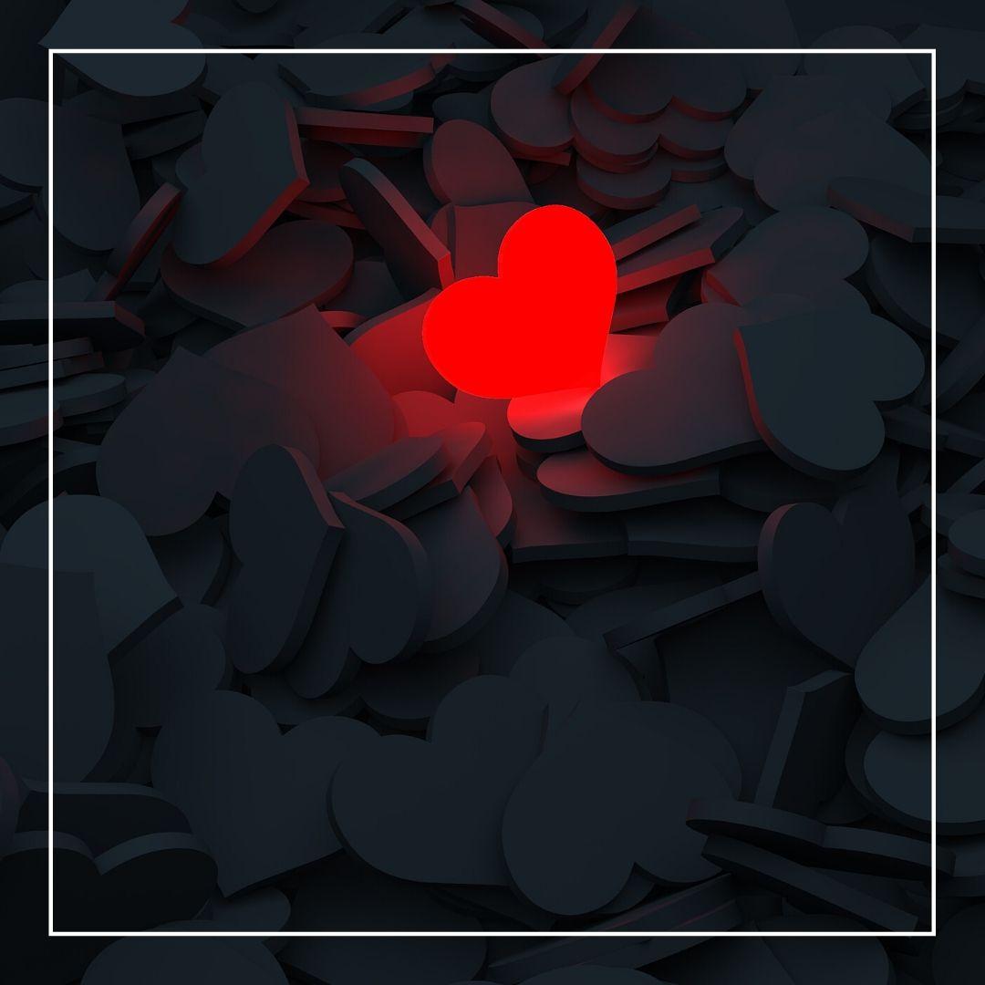 Black Heart Red Love Symbol WhatsApp Dp image full HD free download.