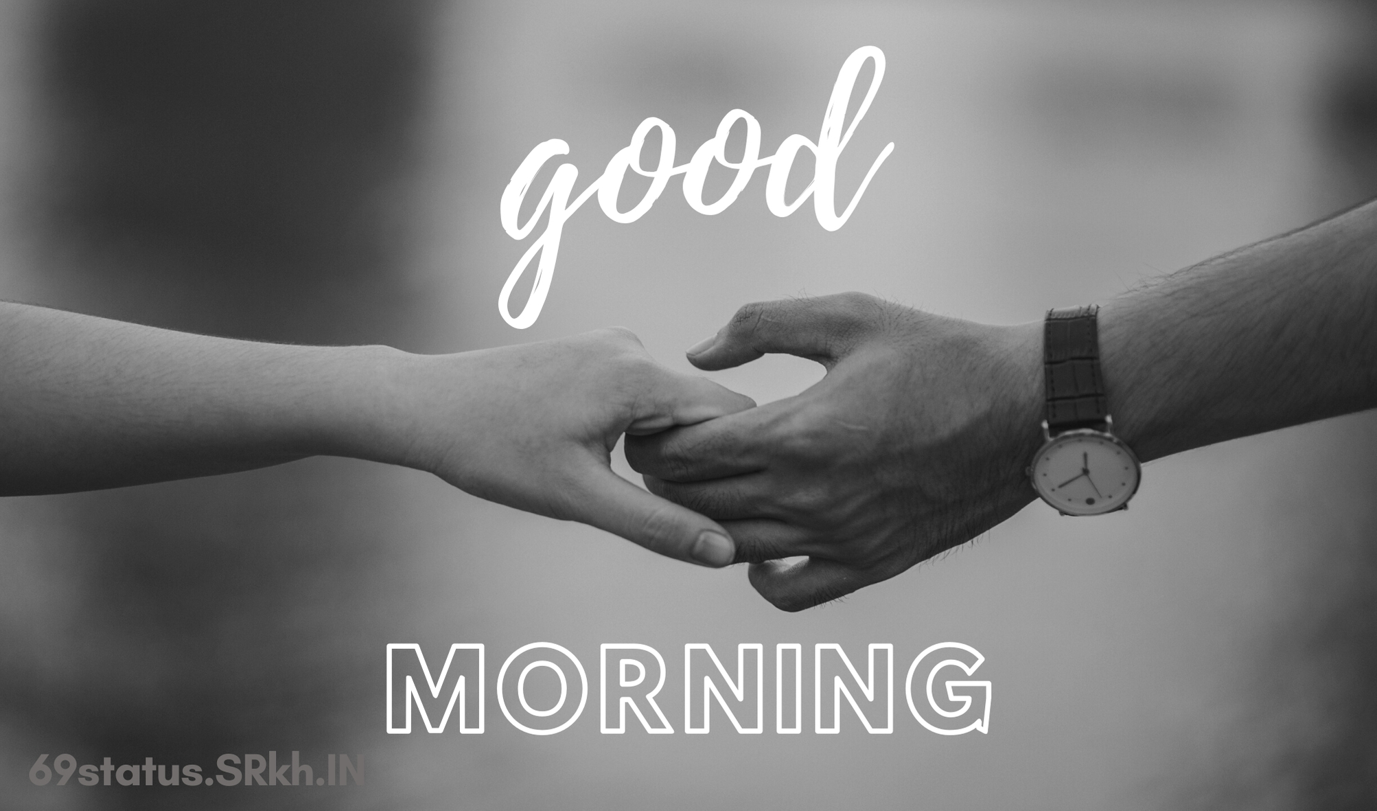 Good Morning Couple Hand Shake Love Image full HD free download.