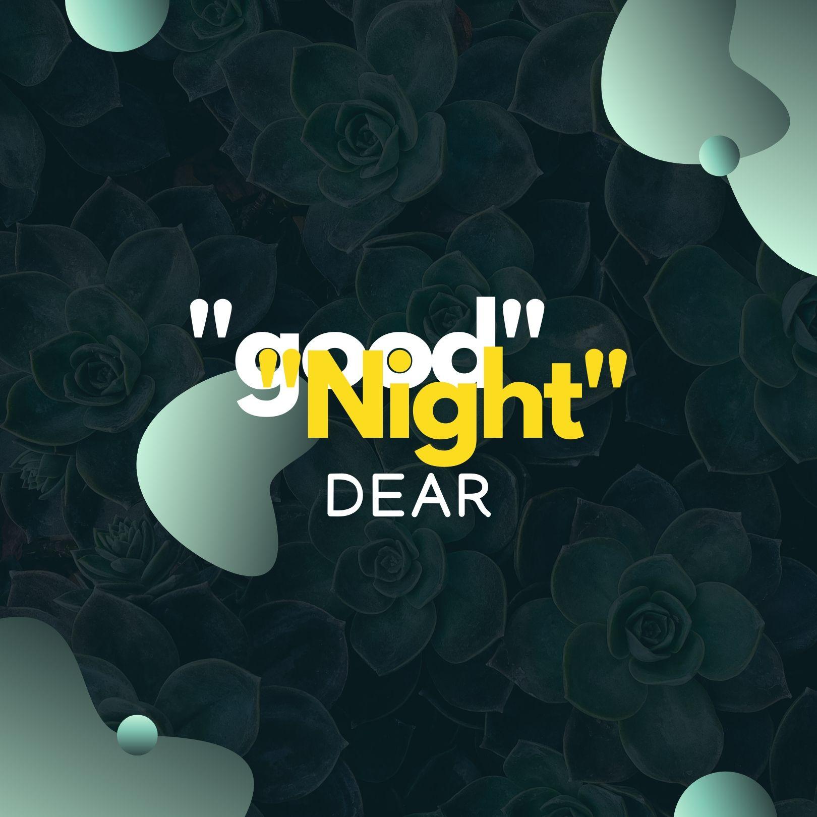 Good Night Dear Love image full HD free download.