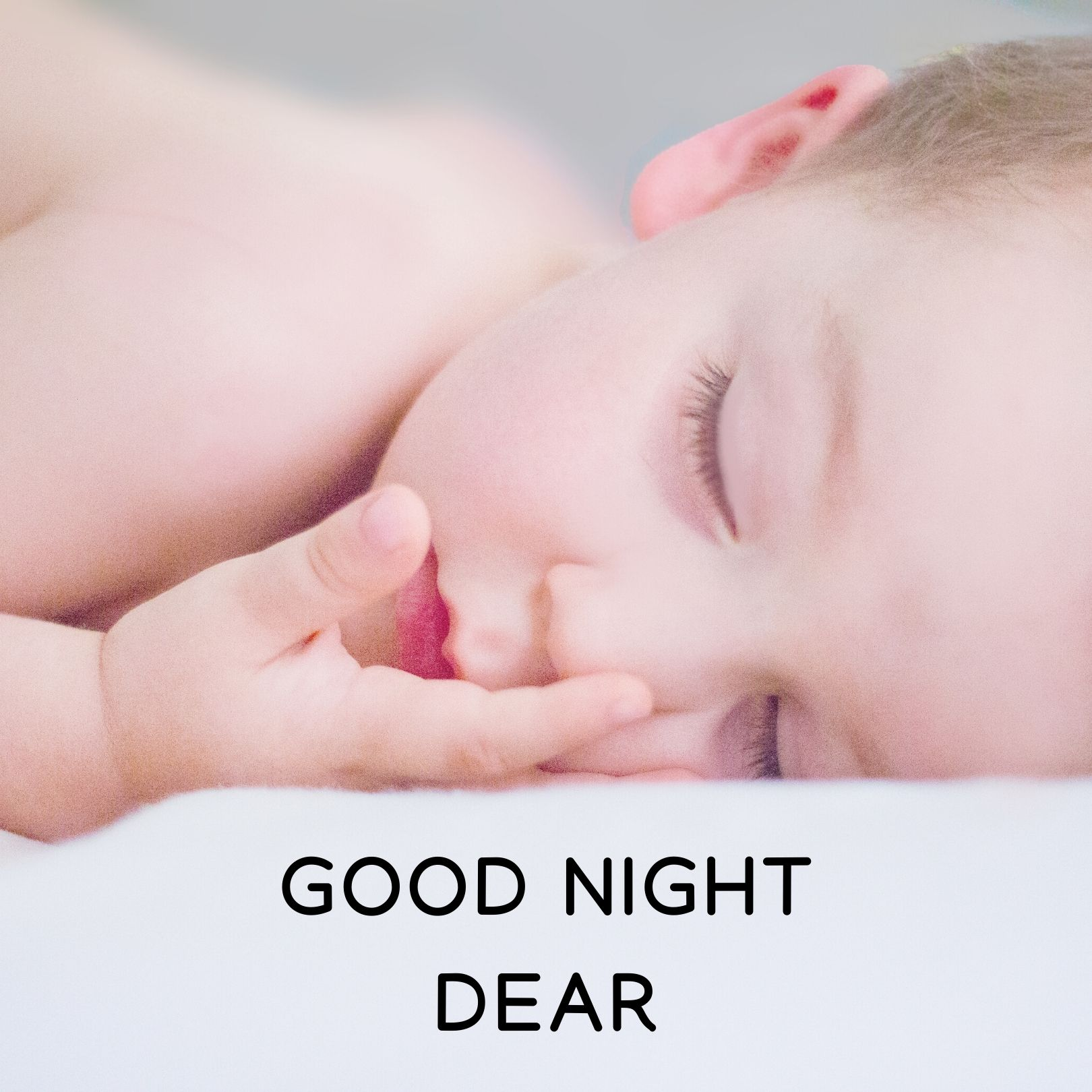 Good Night Dear baby image full HD free download.