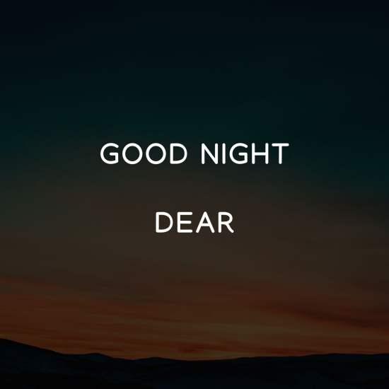 Good Night Dear sad image