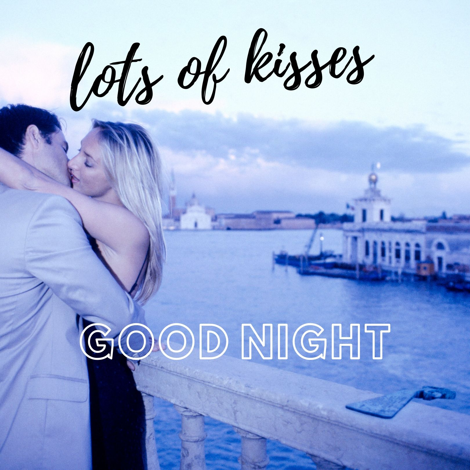 Good Night Lots of kisses Image full HD free download.