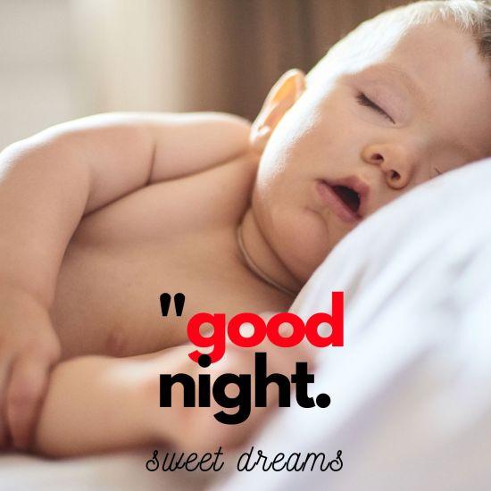 Good Night sweet dreams baby image