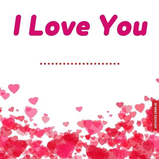 I Love You images write name