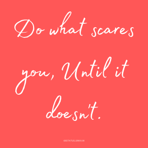 PNG Attitude Text Image Do what scares you Until it does not full HD free download.