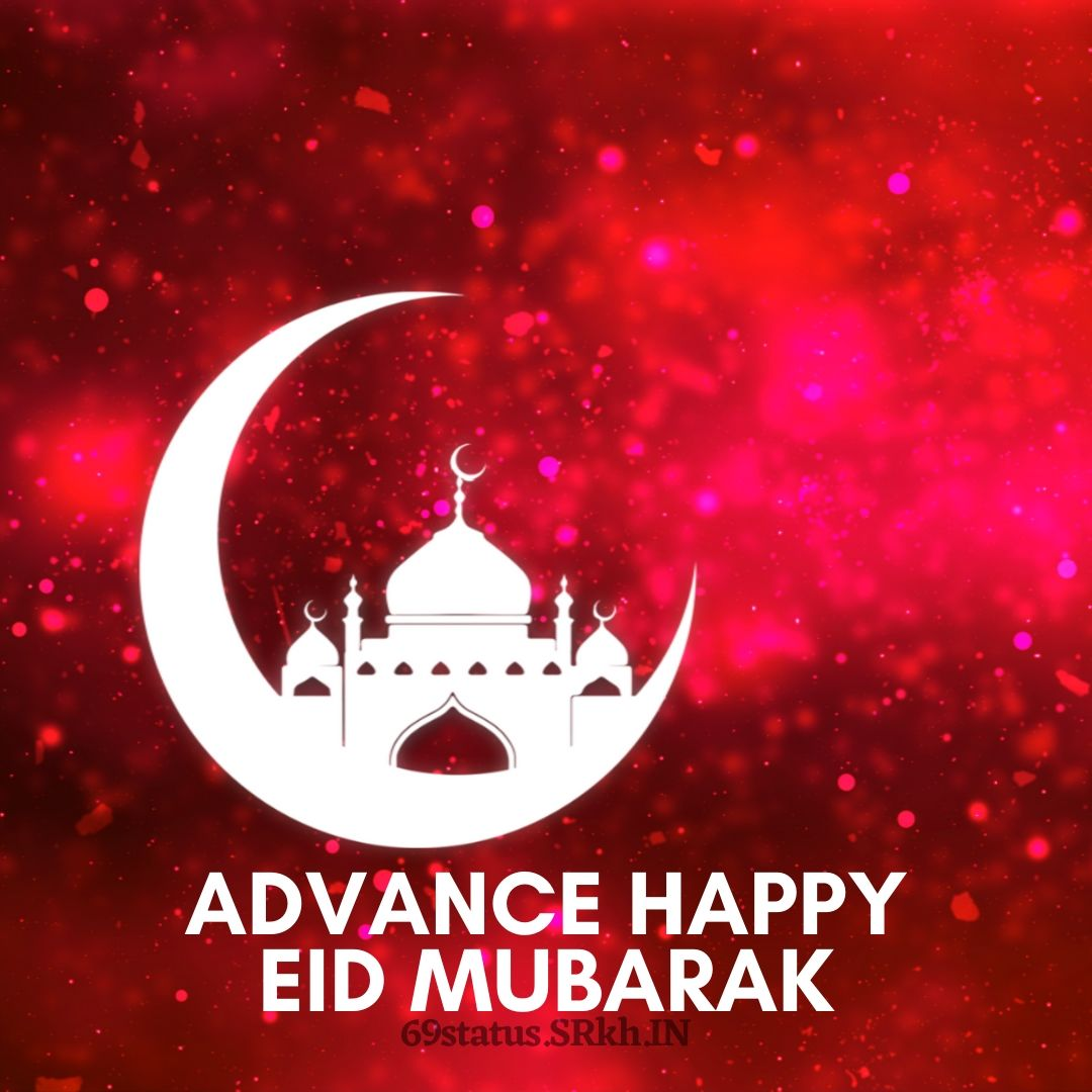 Red Advance Eid mubarak Image full HD free download.
