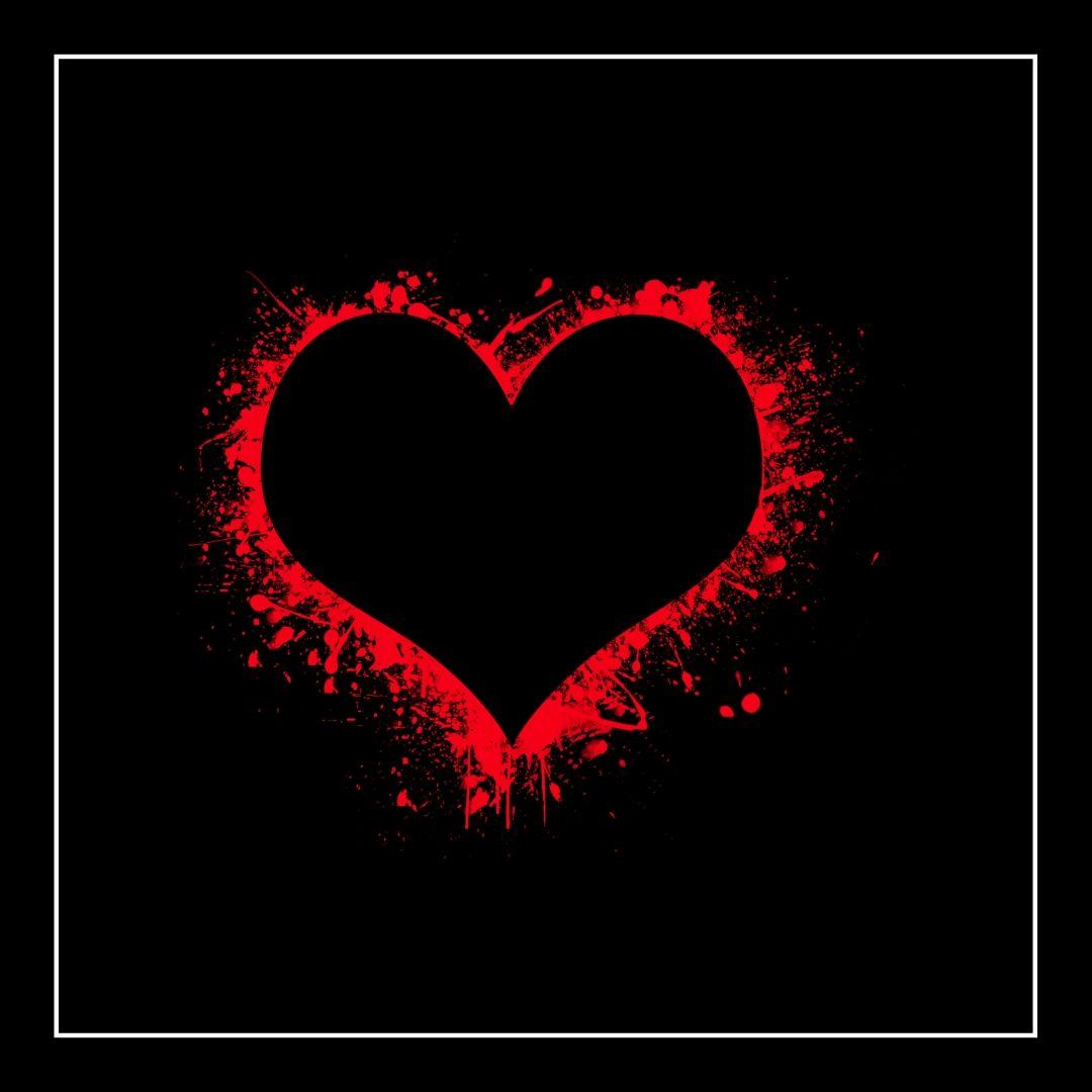 Whatapp Dp image Dark Red Love Heart Symbol full HD free download.
