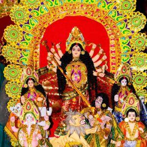 Durga Puja Saptami Image full HD free download.