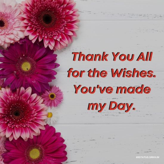 Thank You Images for Birthday Wishes – Thank You All
