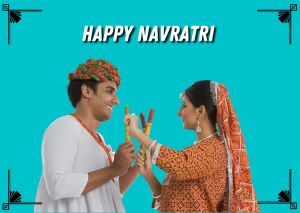 Navratri Couple Image full HD free download.