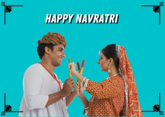 Navratri Couple Image