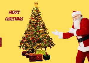 Santa Claus Images With Christmas Tree full HD free download.