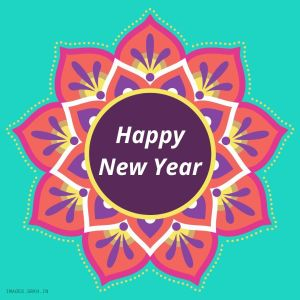 Happy New Year Rangoli full HD free download.