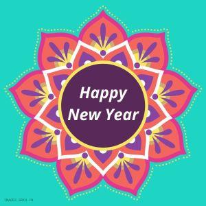 Happy New Year Rangoli full HD free download.