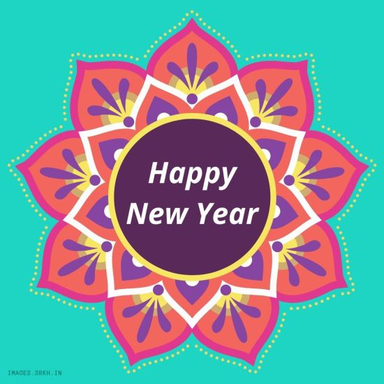Happy New Year Rangoli