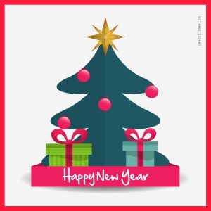 Happy New Year Vector full HD free download.