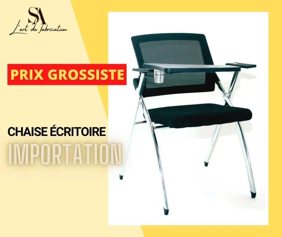 chaise avec ecritoire d importation avec prix raisonable