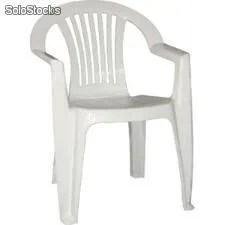 chaise en plastique blanc avec accoudoir mod lagos