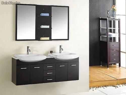 meuble salle de bain double vasques coupe 140cm