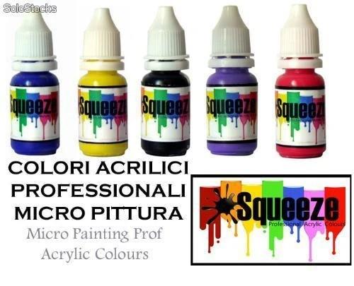 Squeeze Colori Acrilici Per Micro Painting Pittura E Nail Art