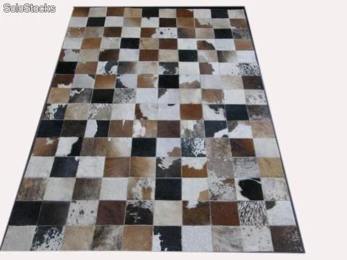 tapis patchwork en peau de vache
