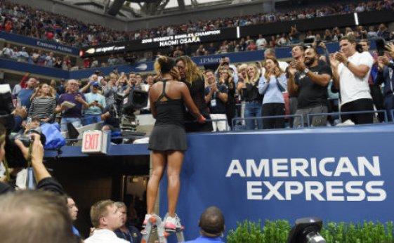 Naomi Osaka of Japan celebrates with her mother Tamaki Osaka after winning the women's singles final match of the US Open tennis tournament at Arthur Ashe Stadium, USTA Billie…