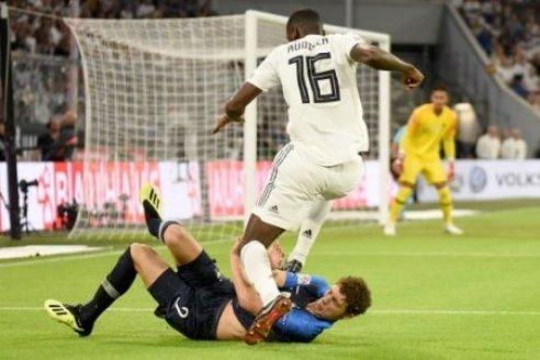 Benjamin Pavard (FRA) und Antonio R�diger (GER). Deutschland, Muenchen, 06.09.2018, Fussball, Nationalmannschaft, UEFA Nations League, 1.Spieltag: Deutschland vs Frankreich,…
